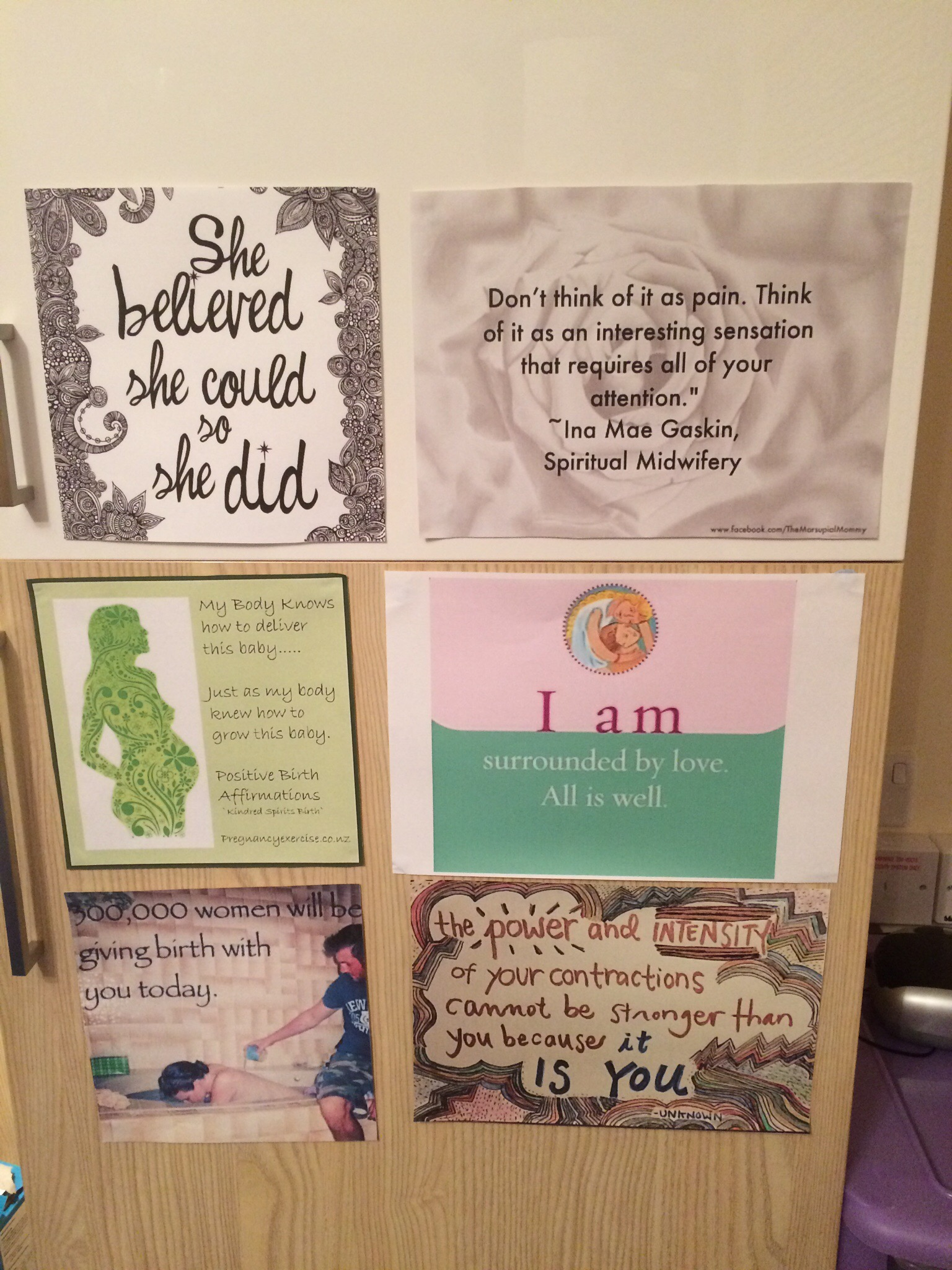 birth affirmation posters