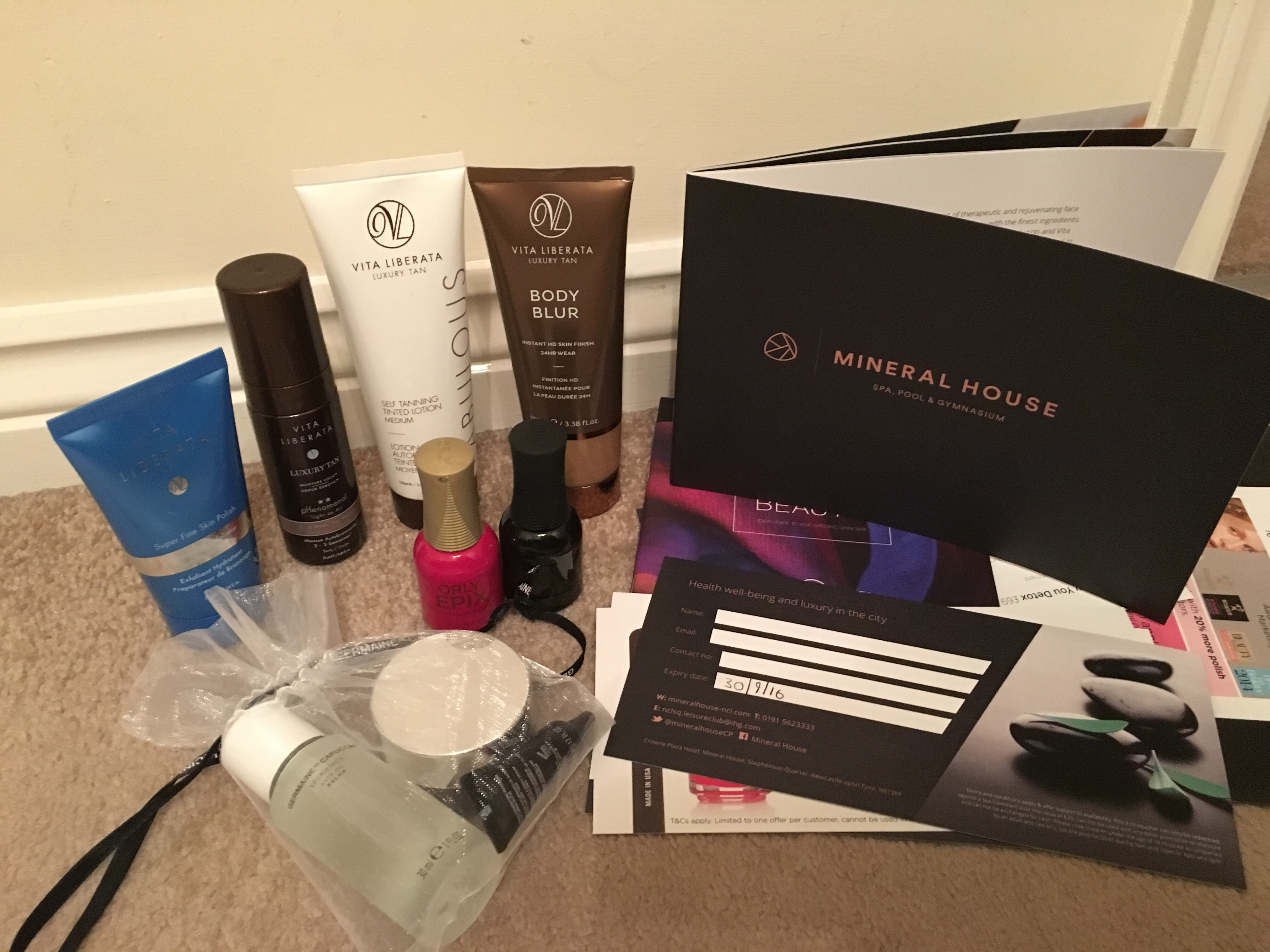 Mineral House Newcastle goody bag