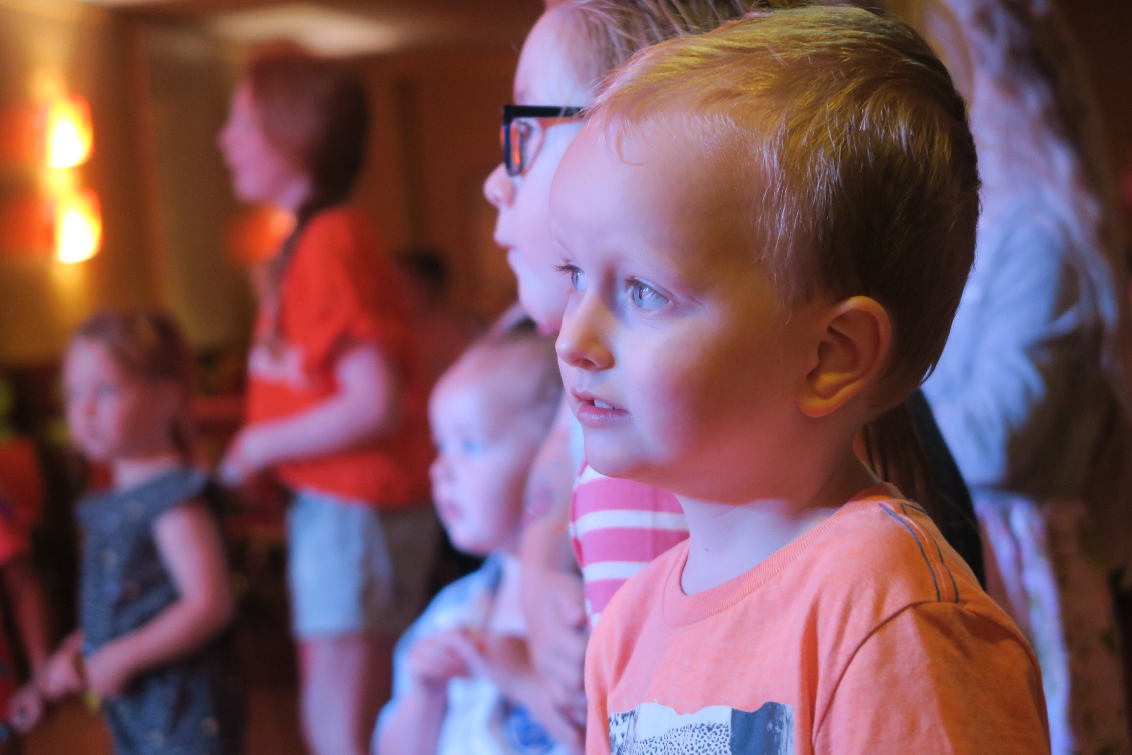 Children watching the evening entertainment at Haggerston Castle Holiday Park