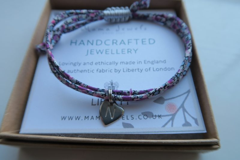 Review Mama Jewels Liberty London print personalised initial bracelet