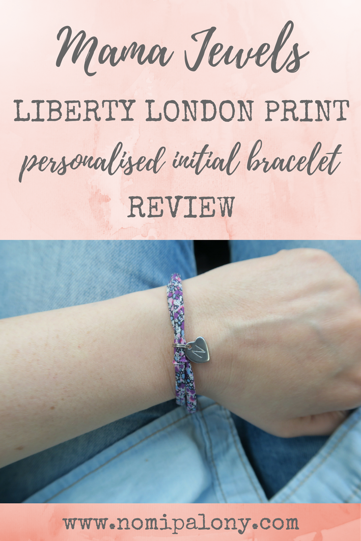 Love this cute bracelet. A review of the Mama Jewels Liberty London print personalised initial bracelet.