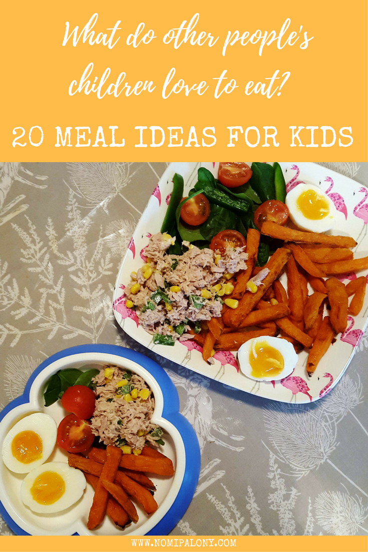 20 meal ideas for kids! Ever wondered what other people's kids eat? I asked 20 bloggers what their go to meals are, the ones they know their kids will always eat and this is what they told me.