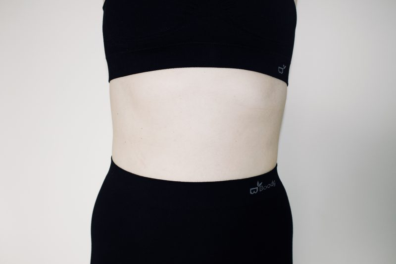 Body confidence with Boody - my midriff in the Boody bra and leggings