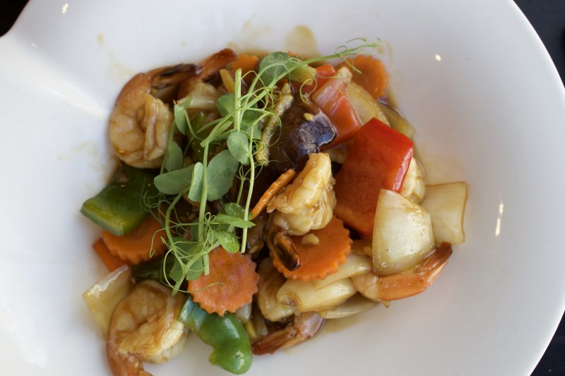 Chaopraya Newcastle review - king prawn and ginger