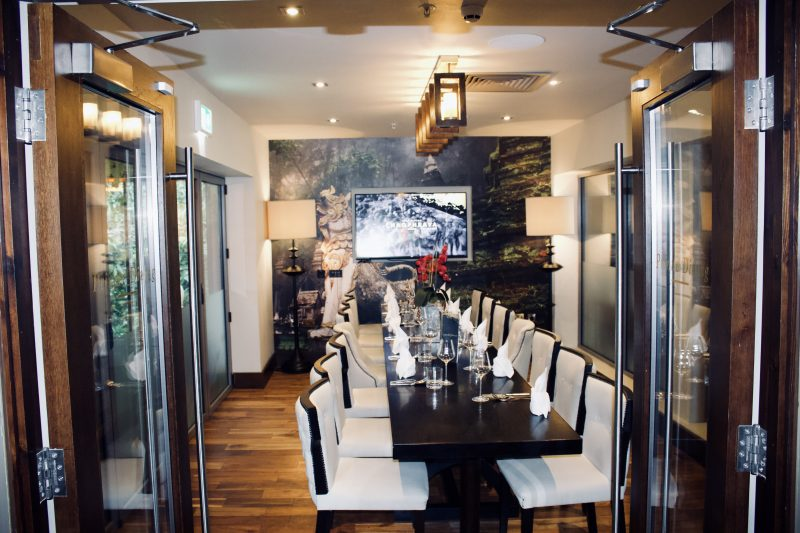 Chaophraya Newcastle review - private dining room