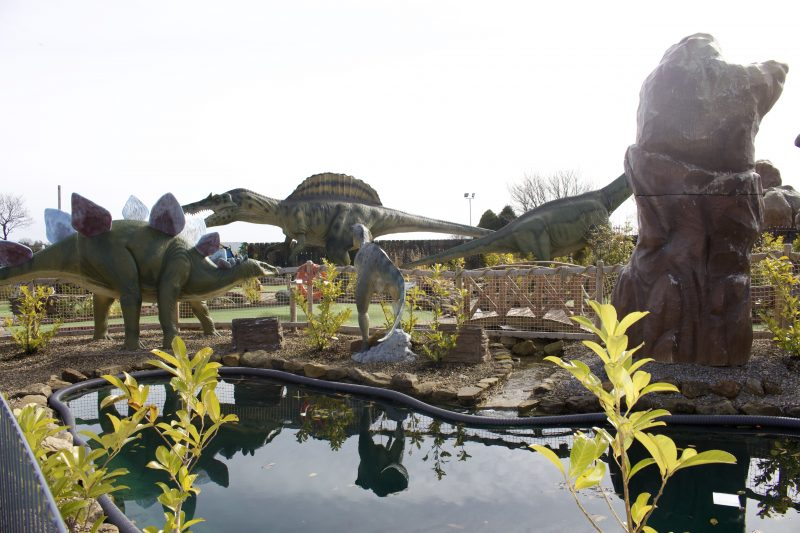 Heighley Gate Breakfast with the Easter Bunny - Dino mini golf