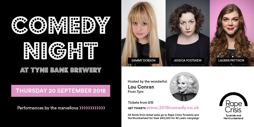 Why you should go to the Comedy Night for Rape Crisis Tyneside and Northumberland