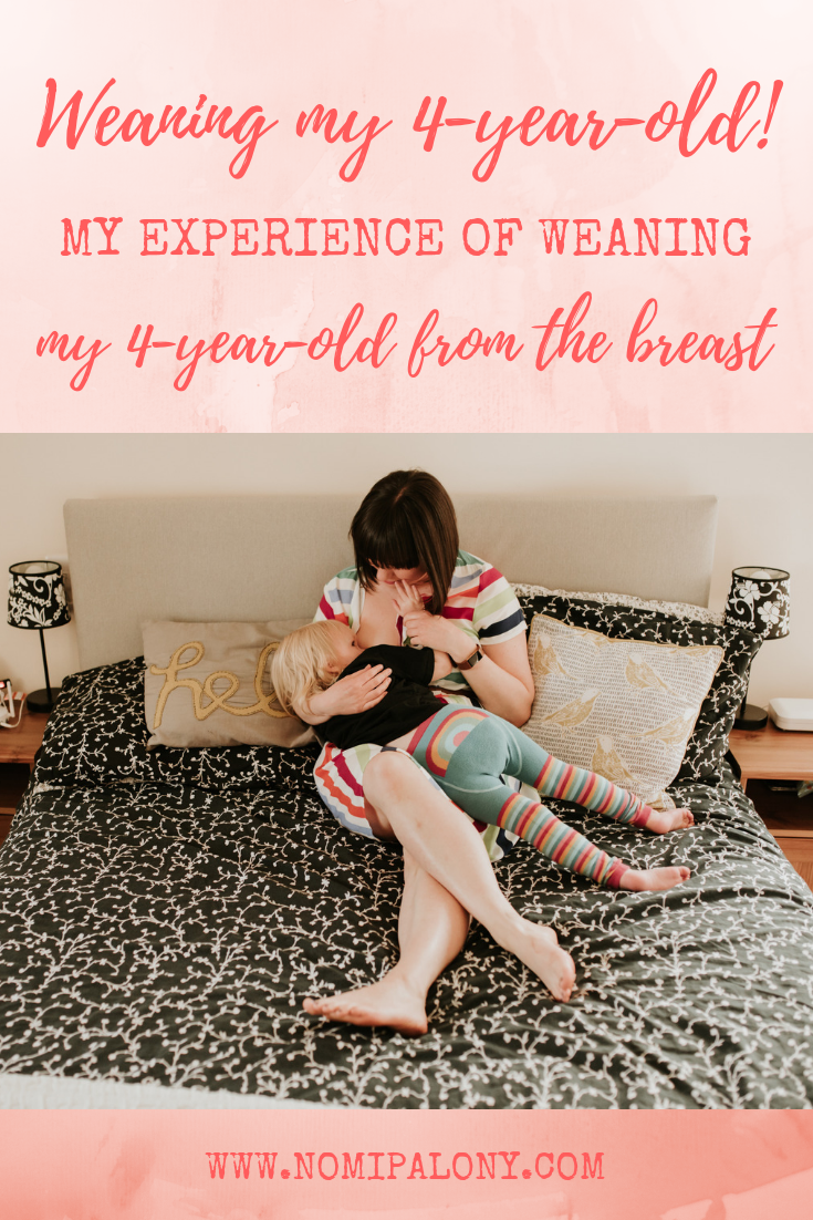 What to expect when weaning a 4 year old from the breast. Our journey of breastfeeding for 4 years and how weaning has gone for us.